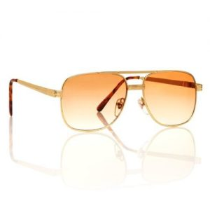 Gold Square Aviator Sunglasses