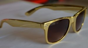 Gold Wayfarer Sunglasses Photos