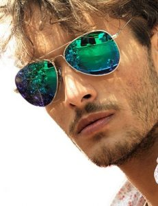 Green Mirror Lens Sunglasses