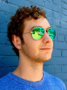 Green Mirror Sunglasses for Men