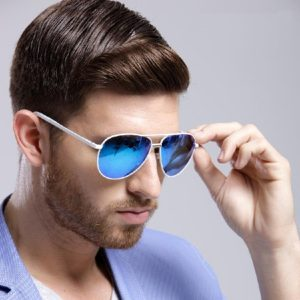 Images of Blue Mirrored Sunglasses