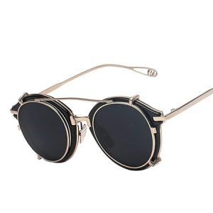 Images of Round Clip On Sunglasses