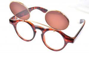 Images of Round Flip Up Sunglasses