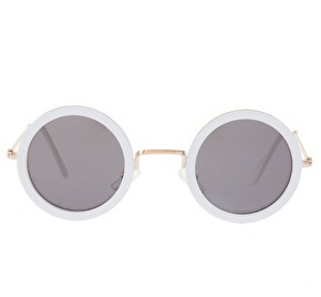 Images of White Round Sunglasses