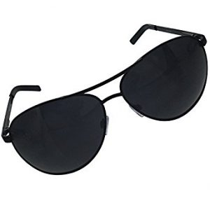 Large Black Aviator Sunglasses