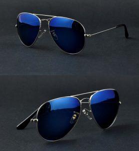 Mirror Aviator Sunglasses for Men