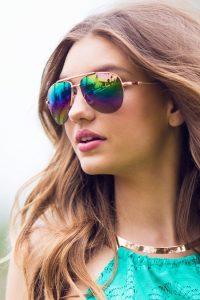 Mirror Aviator Sunglasses for Women