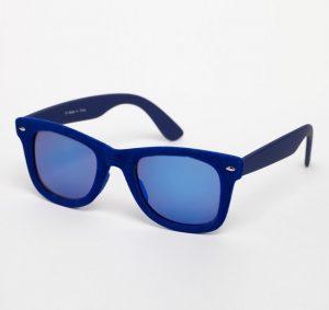 Navy Blue Wayfarer Sunglasses