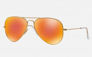 Orange Aviator Sunglass
