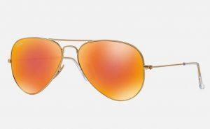 Orange Aviator Sunglass