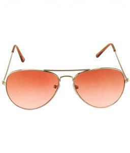 Orange Aviator Sunglasses
