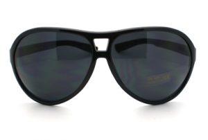 Oversized Black Aviator Sunglasses