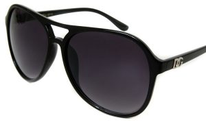 Oversized Black Aviator Sunglasses
