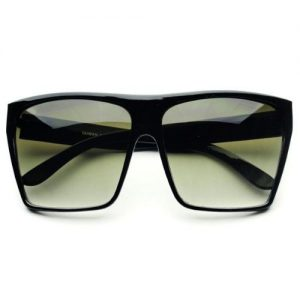 Oversized Black Square Sunglasses