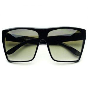Oversized Black Square Sunglasses