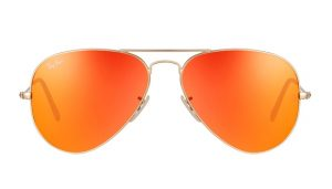 Pictures of Orange Aviator Sunglasses