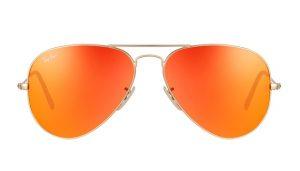 Pictures of Orange Aviator Sunglasses