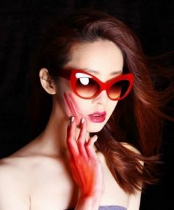 Pictures of Red Cat Eye Sunglasses