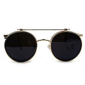 Pictures of Round Clip On Sunglasses