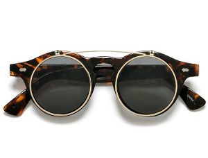 Pictures of Round Flip Up Sunglasses