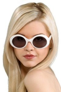 Pictures of White Round Sunglasses