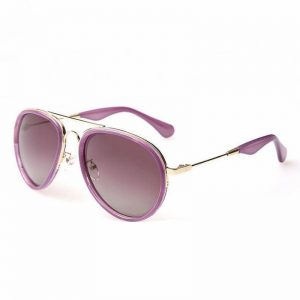 Purple Aviator Sunglasses for Women