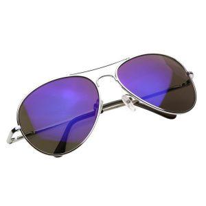 Purple Mirrored Aviator Sunglasses