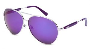 Purple Polarized Aviator Sunglasses