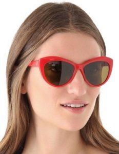 Red Cat Eye Sunglasses Photos