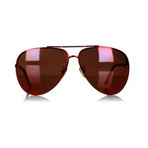 Red Mirrored Aviator Sunglasses