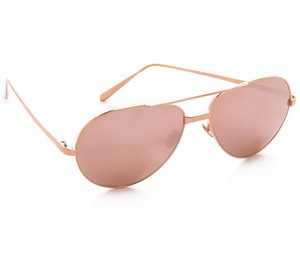 rose gold aviators  Gold Aviator Sunglasses