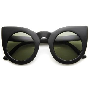 Round Circle Cat Eye Sunglasses
