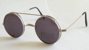 Round Clip On Sunglasses