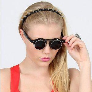 Round Flip Up Sunglasses Pictures