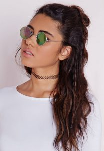 Round Mirrored Sunglasses Images