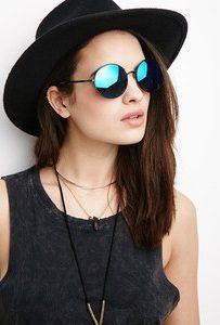 Round Mirrored Sunglasses Photos