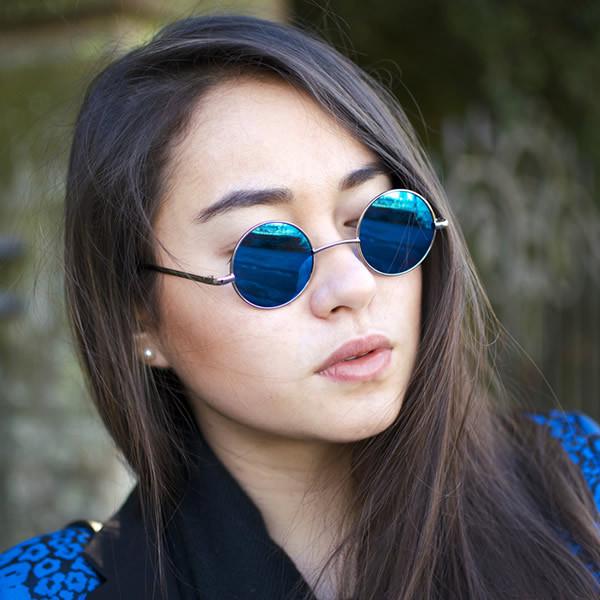Mirrored Round Sunglasses  round mirrored sunglasses top sunglasses