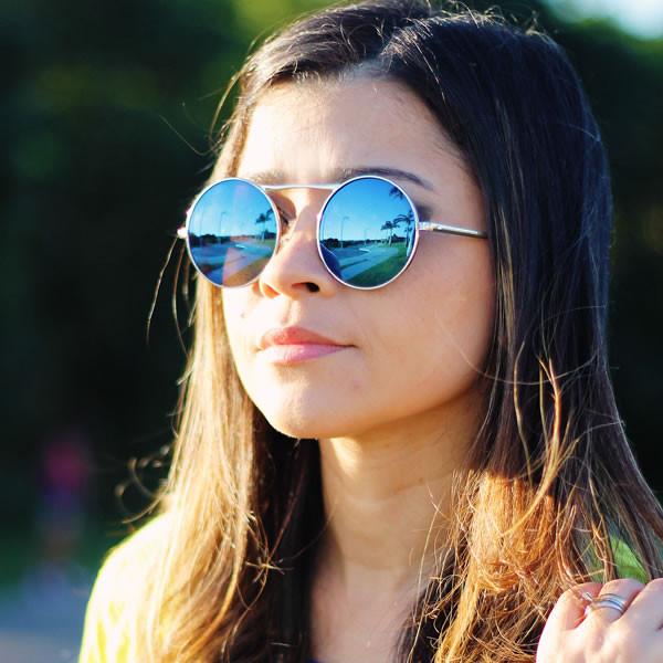 Round Reflective Sunglasses  round mirrored sunglasses top sunglasses