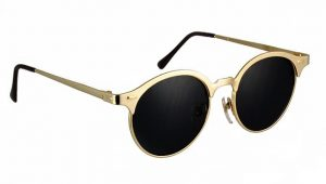 Round Sunglasses Gold Frame