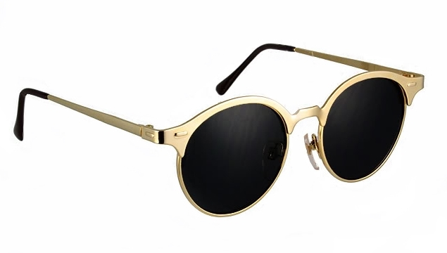 Gold Round Sunglasses Top Sunglasses