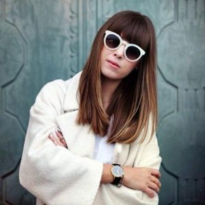 Round White Frame Sunglasses