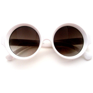 white sunglasses  White Round Sunglasses