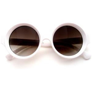 Round White Sunglasses
