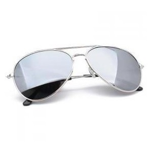 Silver Aviator Sunglasses for Men