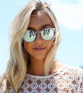Silver Mirrored Round Sunglasses