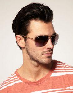 Square Aviator Sunglasses Men