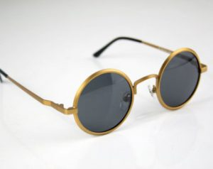 Vintage Round Gold Sunglasses