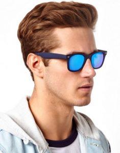 Wayfarer Sunglasses Blue Lens