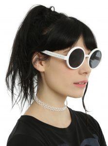 White Round Sunglasses Images