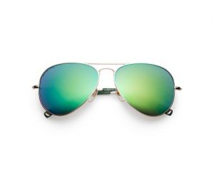 Aviator Green Sunglasses